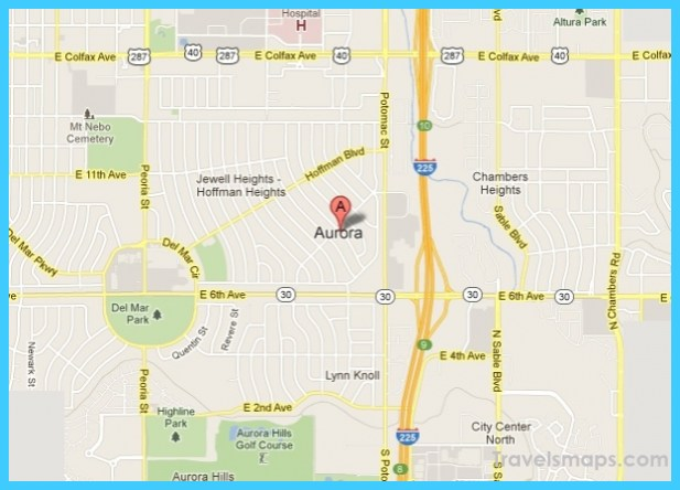 Map of Aurora Colorado - TravelsMaps.Com ®
