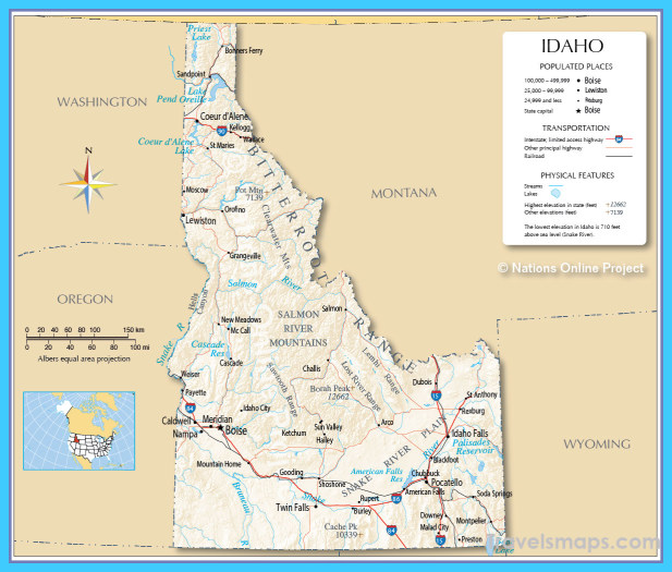 Map Of Boise Idaho  Vacations  Travel  Map  Holiday