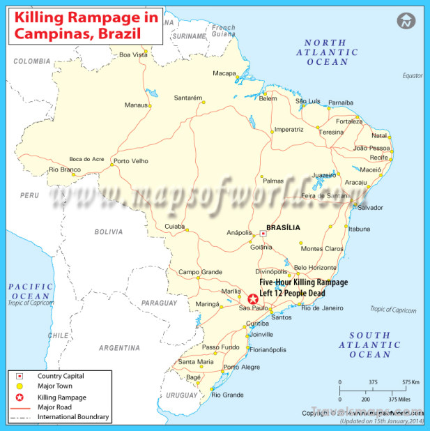 Map Of Campinas Vacations Travel Map Holiday - Campinas map