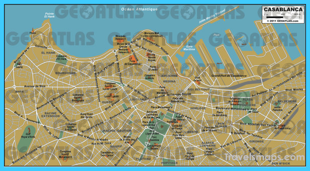 Map of Casablanca - TravelsMaps.Com ® Casablanca Map on