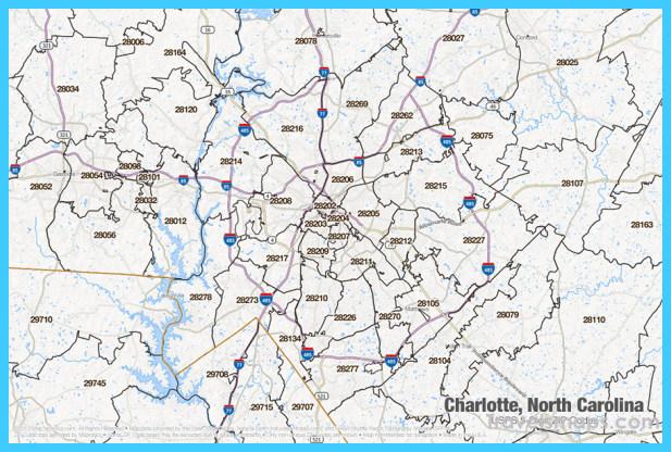 Map of Charlotte North Carolina - TravelsMaps.Com ®