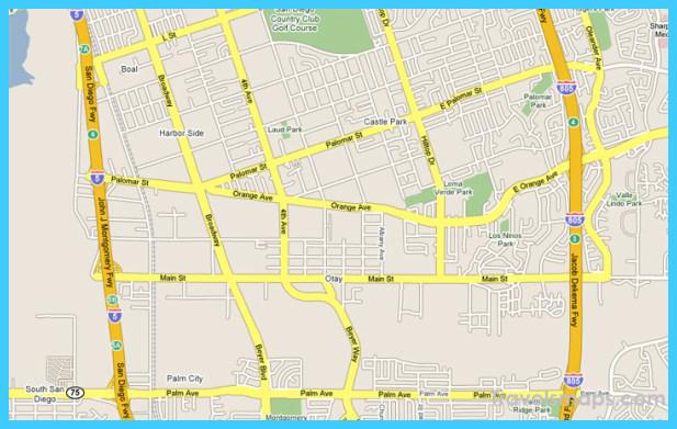 Map Of Chula Vista California Travelsmaps Com