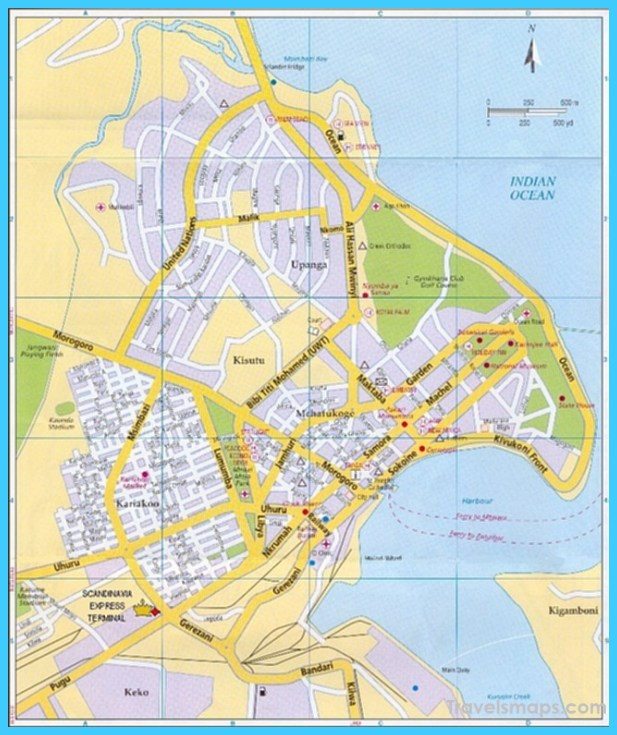 Map of Dar es Salaam TravelsMapsCom