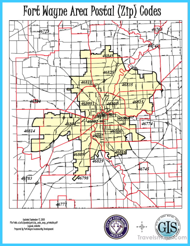Fort Wayne Indiana Zip Code Map | Zip Code MAP