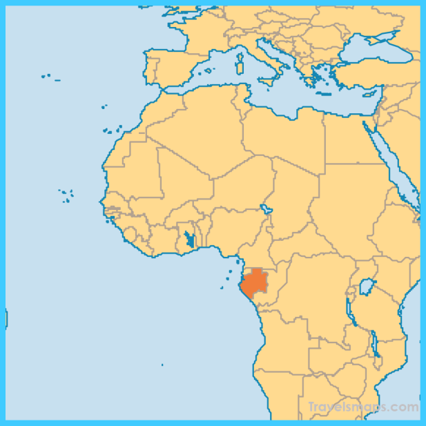 Map Of Gabon Vacations Travel Map Holiday - Gabon map