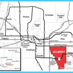 Map of Gilbert town Arizona TravelsMapsCom