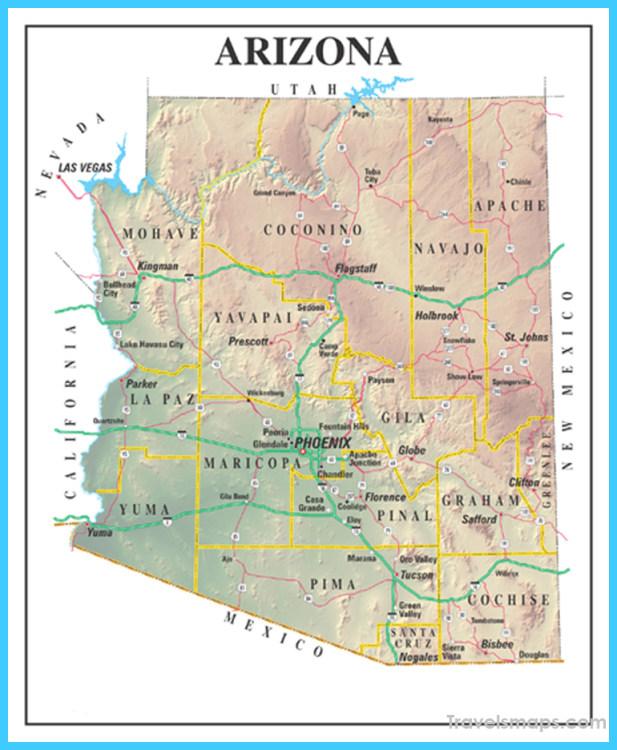 Map of Gilbert town, Arizona   TravelsMaps.®