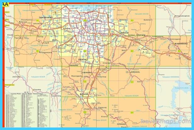 Map of Jakarta Jabodetabek - TravelsMaps.Com ®