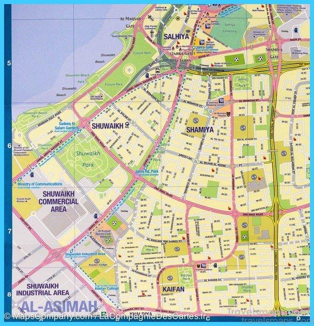 Map of Kuwait City - TravelsMaps Com ®