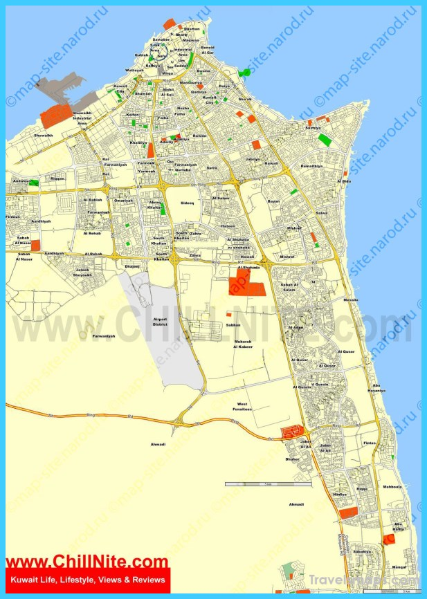 Map Of Kuwait City Vacations Travel Map Holiday - Kuwait map