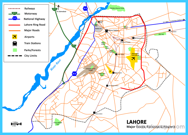 Map of Lahore TravelsMapsCom