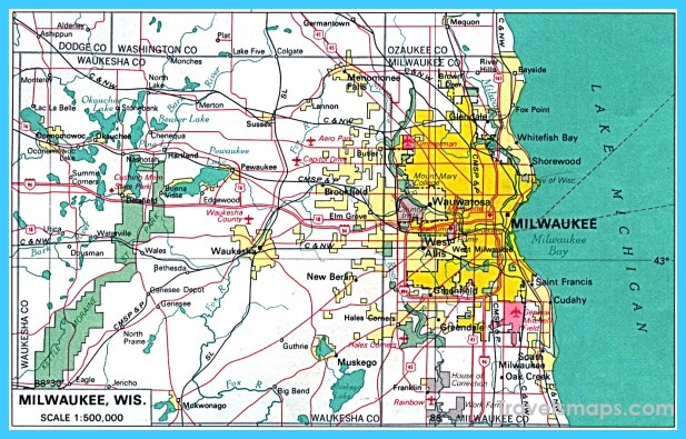 map of milwaukee wisconsin vacations travel map holiday