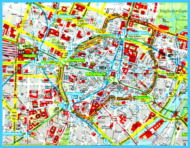 Map of Munich TravelsMapsCom – Munich City Map Tourist