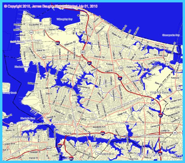norfolk va map - Teacheng.us