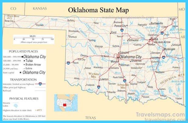 oklahoma map usa Archives - TravelsMaps.Com ®