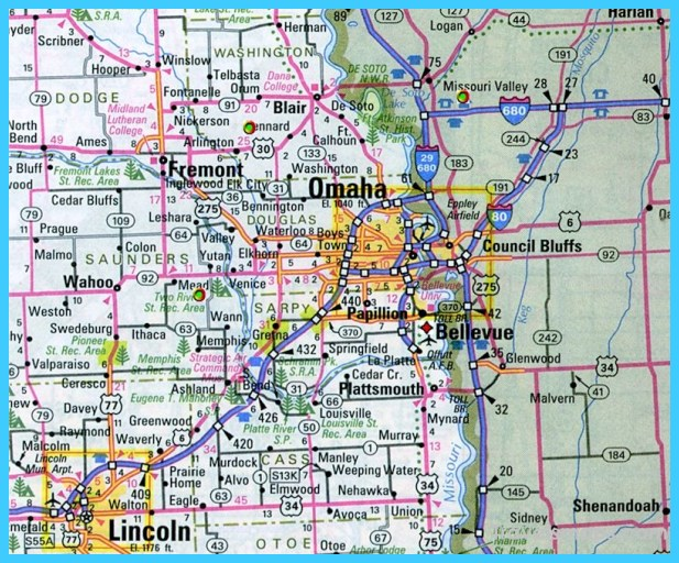 Map Of Omaha Nebraska  Vacations  Travel  Map  Holiday