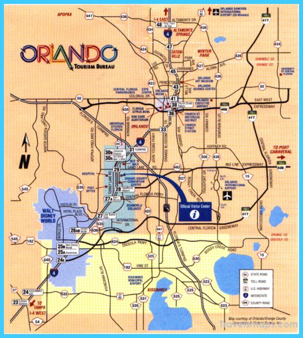 Map of Orlando Florida  Vacations  Travel  Map  Holiday
