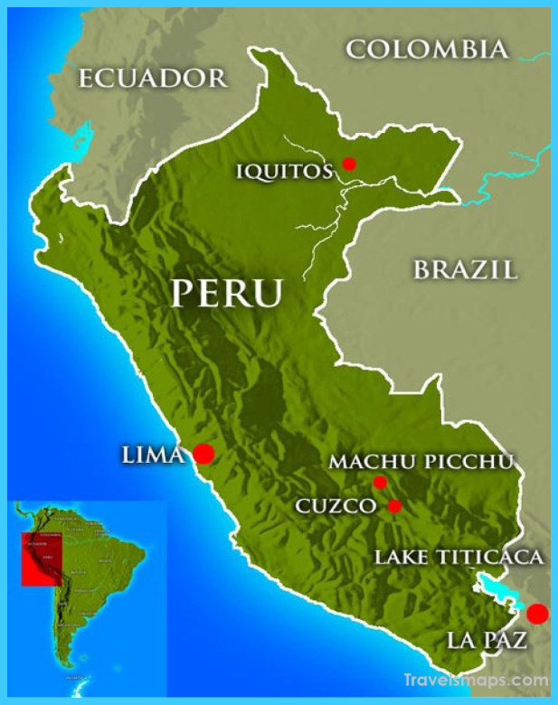 Map of Peru - Vacations - Travel - Map - Holiday