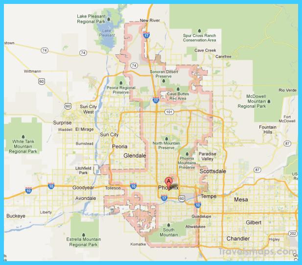 Phoenix Usa Map: Map Of Phoenix Arizona