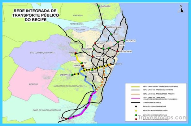 Map of Recife TravelsMapsCom