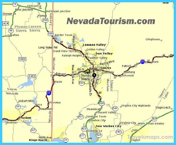 Map Of Reno Nevada TravelsMapsCom - Reno hotels map