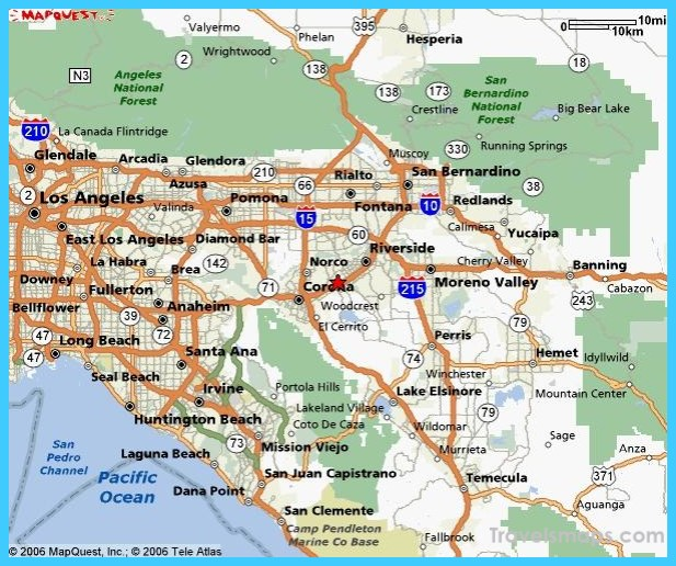 Map of Riverside California Vacations Travel Map Holiday