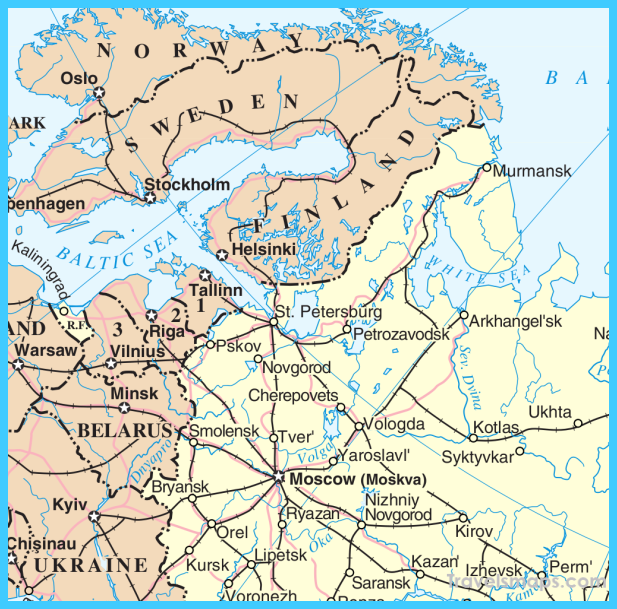 Map of Saint Petersburg