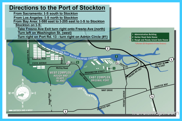 Map of Stockton California TravelsMapsCom
