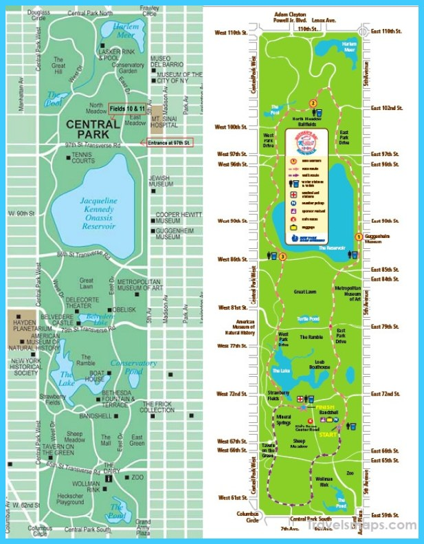 Central Park Map Nyc Travelsmaps Com