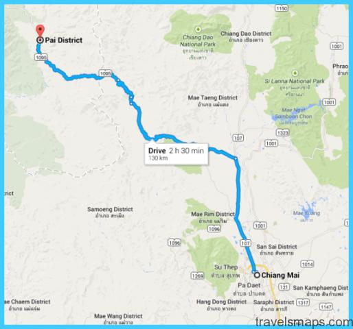 Chiang Mai to Pai Map