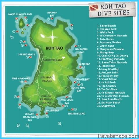 Map of KOH TAO
