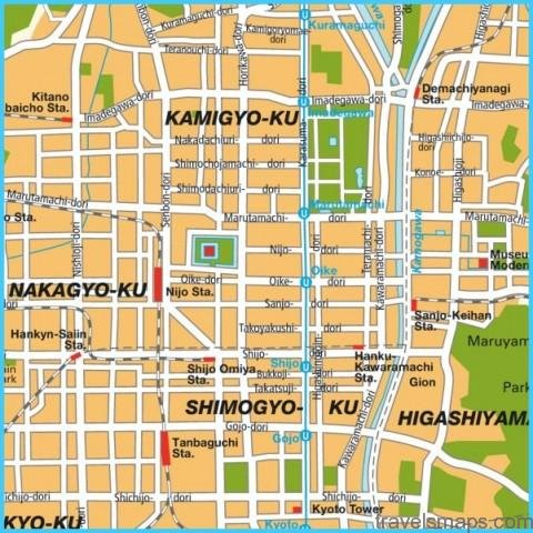 Map of Kyoto Japan