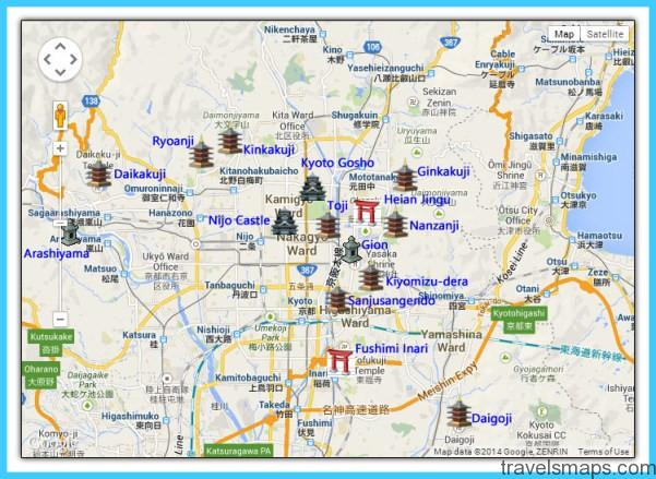 Map of Kyoto Japan TravelsMapsCom