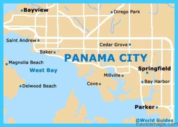 Map Of Panama City Travelsmaps Com
