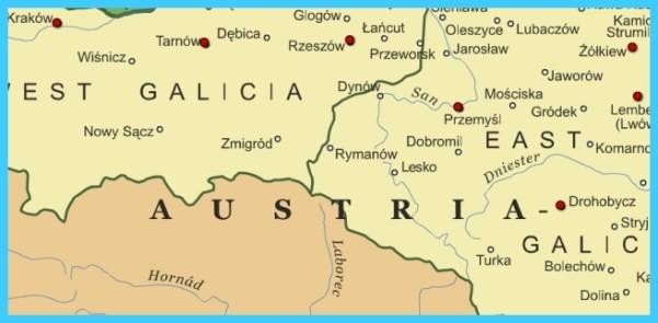 Map Of Europe Austria Map Of Galicia Austria - TravelsMaps.Com ® Galicia Map on