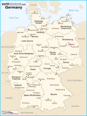Map Of Germany And Austria With Cities