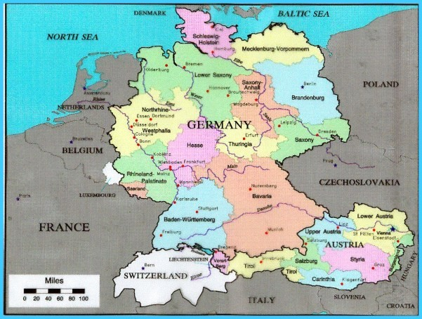 Map Of Germany And Austria With Cities - TravelsMaps.Com ®