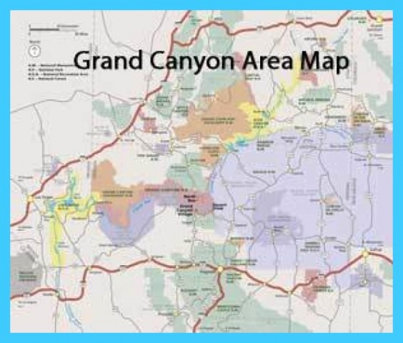 Map of Grand Canyon - TravelsMaps.Com ®