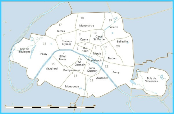 Paris Map Neighborhoods - Neighborhood Maps of Paris, France
