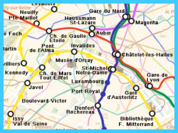 Gard Du Nord Paris Map.Paris Map Rer Travelsmaps Com