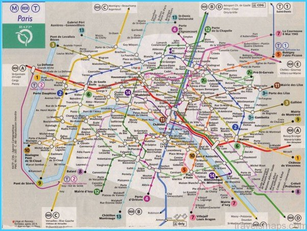 Paris Map Rer