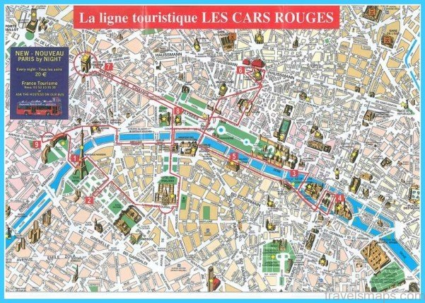 Paris Map With Attractions Paris Map Of Attractions