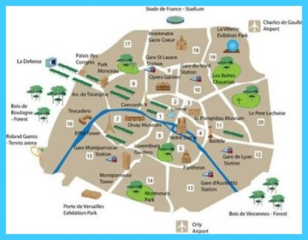 Paris Neighborhood Map - TravelsMaps.Com ®