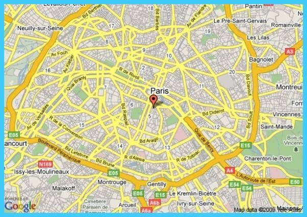 Paris On Map Paris Map Google - TravelsMaps.Com ®