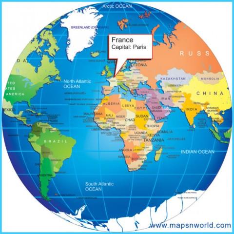 Paris On World Map - TravelsMaps.Com ®