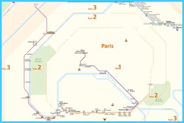 Paris Subway Map Zone 2018.Paris Subway Map Travelsmaps Com