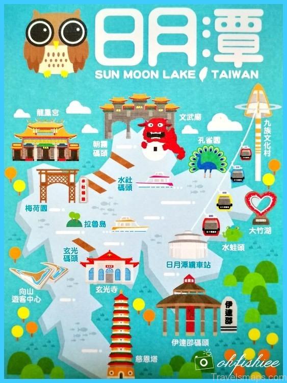 Taiwan  Sun Moon Lake Map