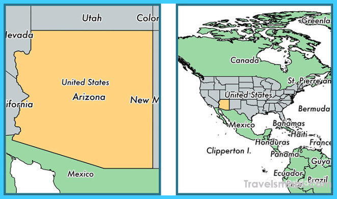 Where is Arizona state? / Where is Arizona Located in The World ...