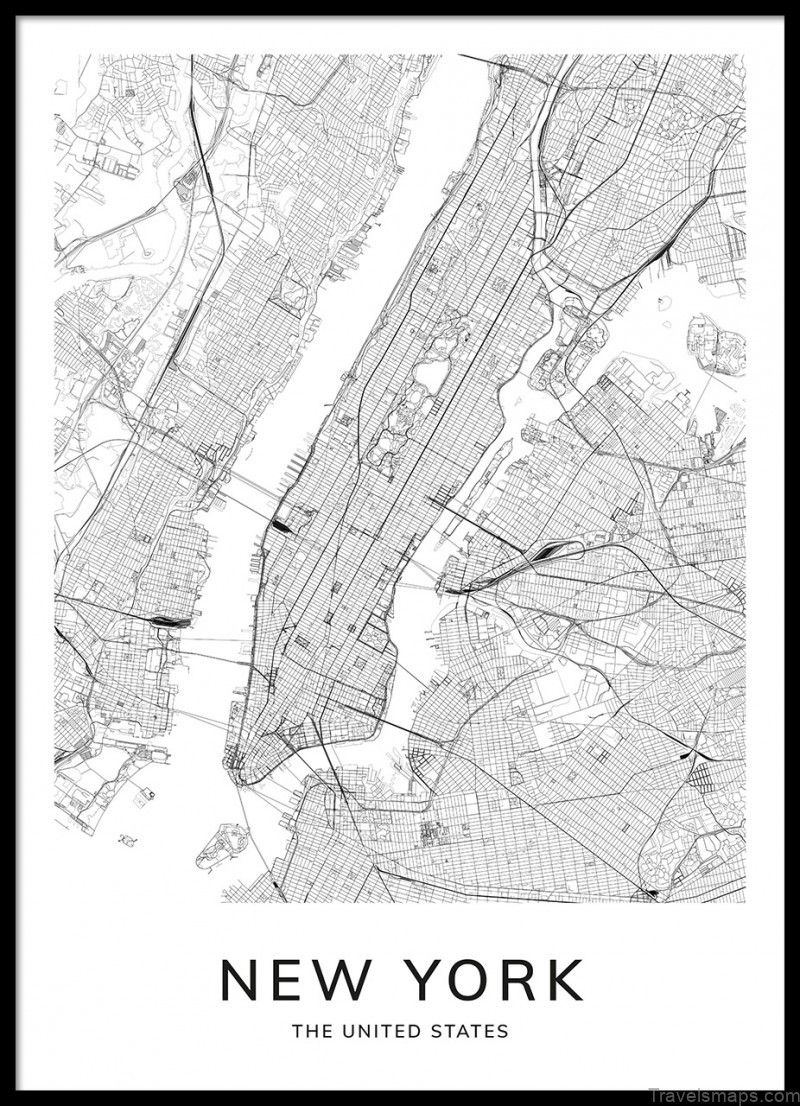 where is new york new york map location new york map poster 1