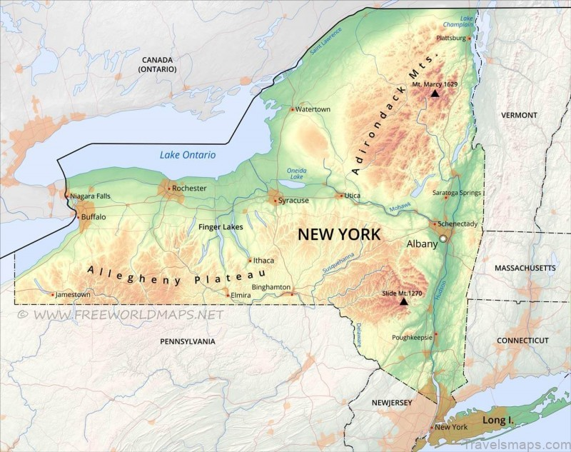 where is new york new york map location newyork map